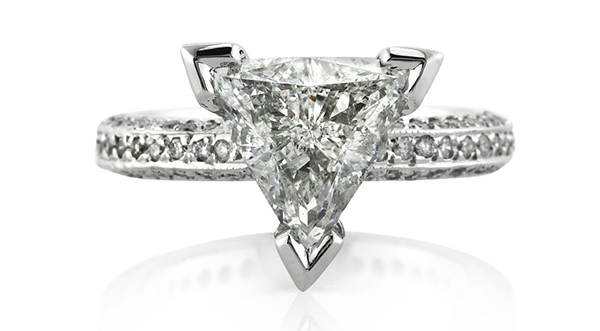 Engagement Rings with Trillion-cut Diamond Centers