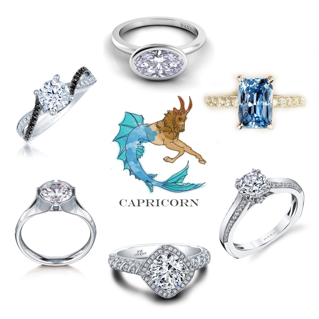 Capricorn Engagement Rings