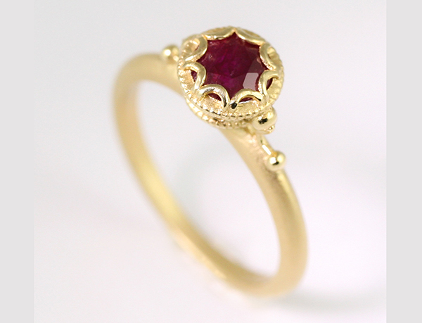 Megan Thorne Ruby aquarius engagement ring
