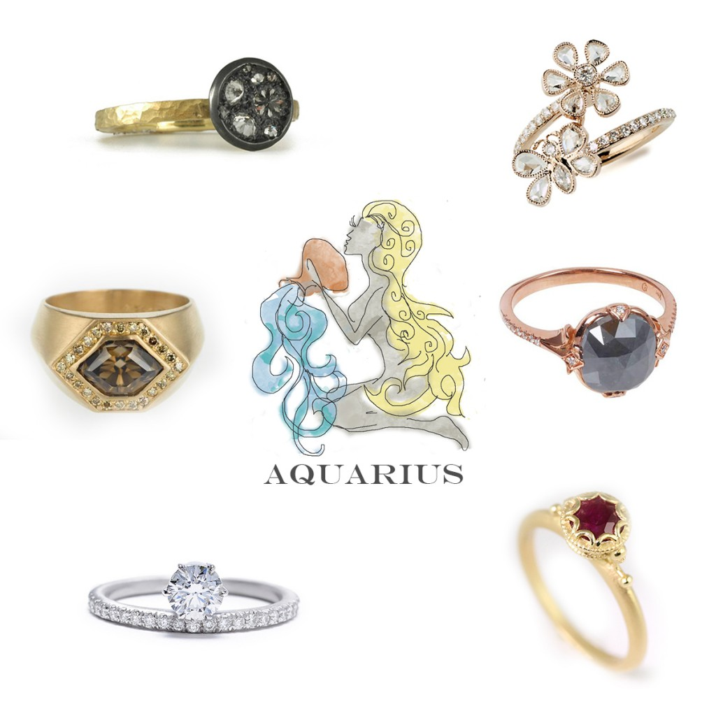 Aquarius Engagement Rings