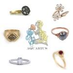 Aquarius Engagement Rings