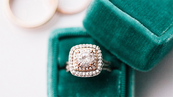 clean engagement ring