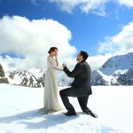 Amazing Snow Pre-Wedding Photo Proposal