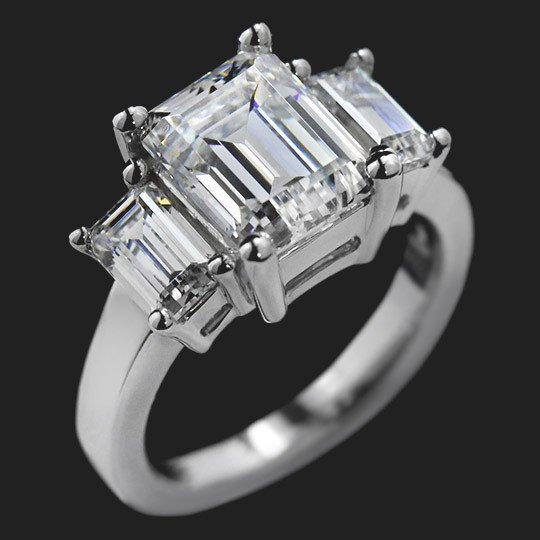 Reflection Three Stone Engagement Ring