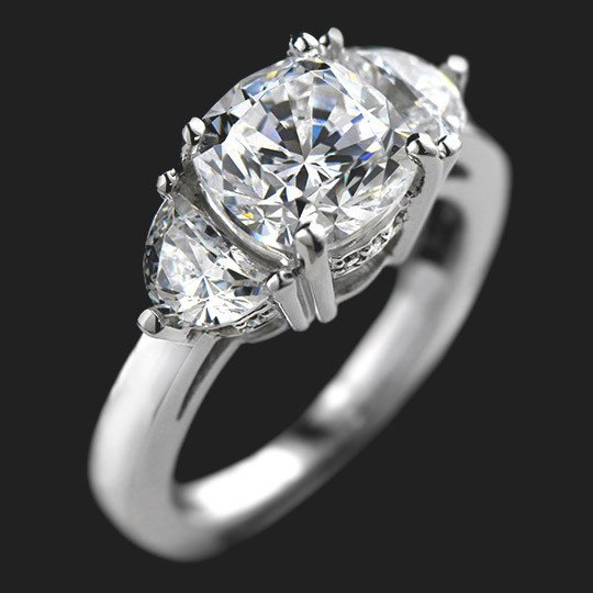 Sandra Three Stone Engagement Ring