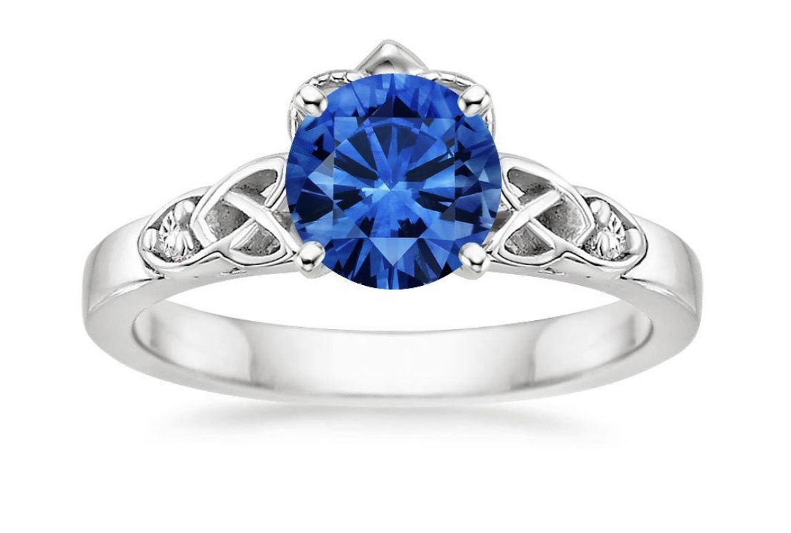 Claddagh ring sapphire