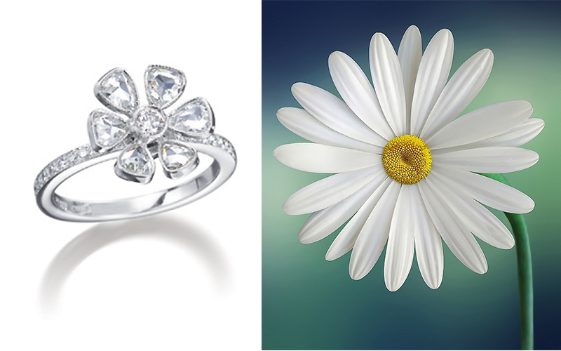 daisy engagement ring photo