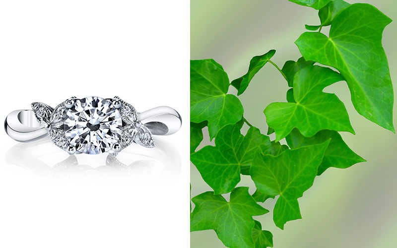 ivy engagement ring parade design