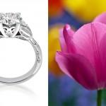 Flower Inspired Platinum Engagement Rings