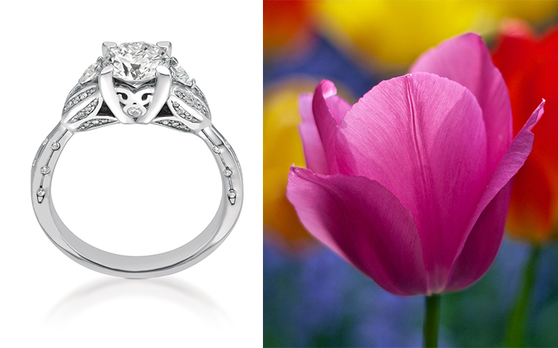 tulip engagement ring maevona
