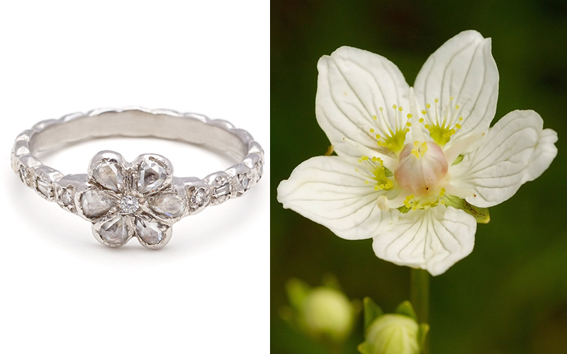 wildflower engagement ring elisa solomon