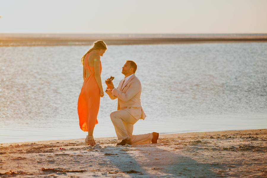 beach proposal story