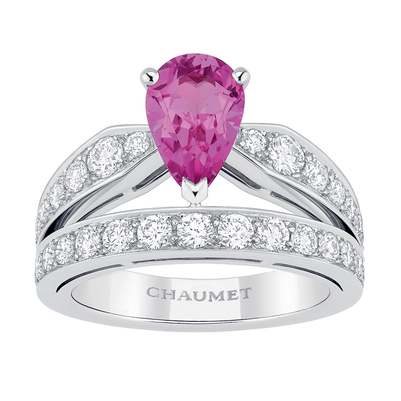 pink chaumet engagement ring