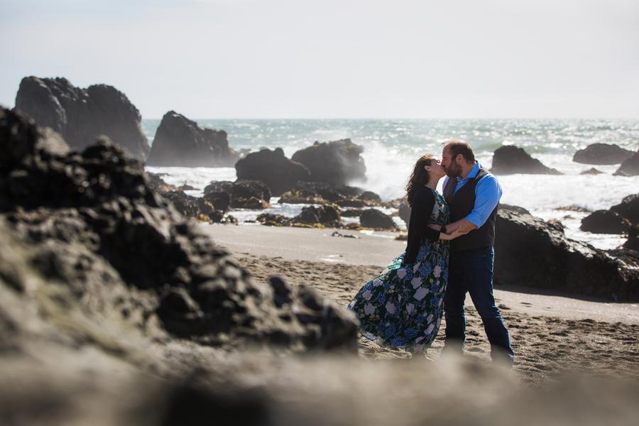 beach proposal love sea