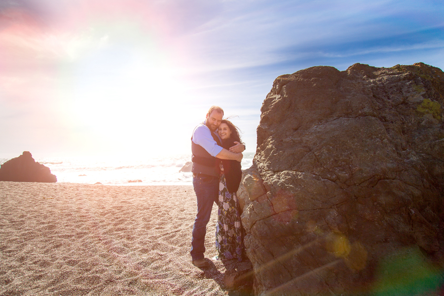 engagement beach proposal love sand