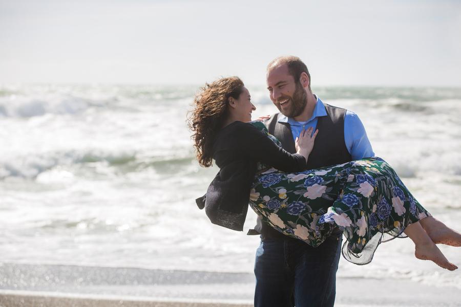 real proposal beach love love