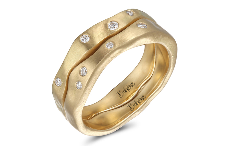 boheme engagement ring yellow gold wedding bands