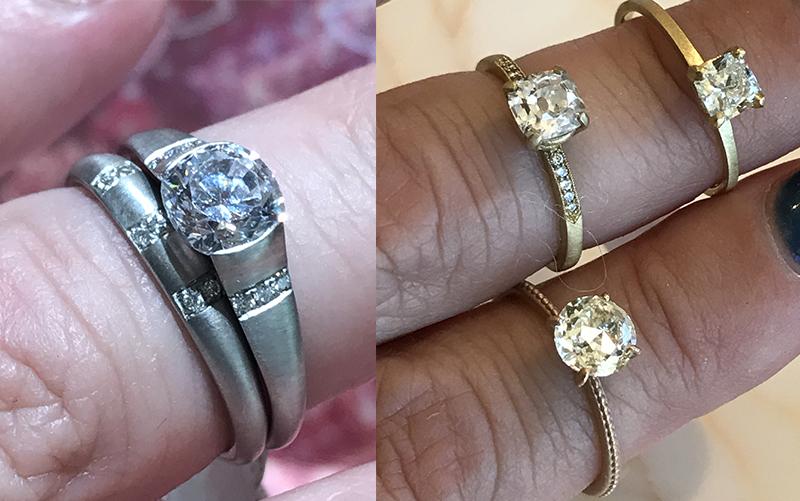 matte finish engagement ring