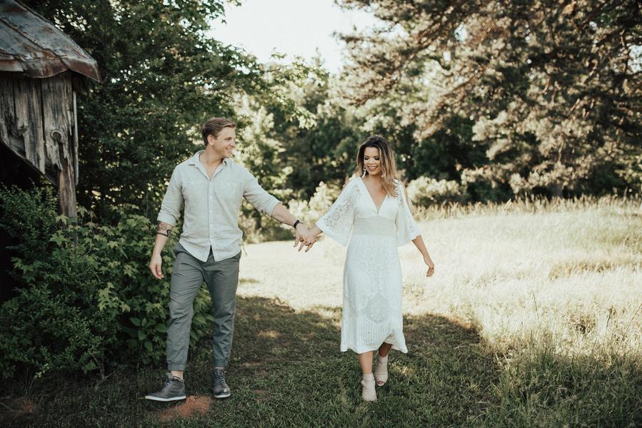 preston and mati romantic walk proposal