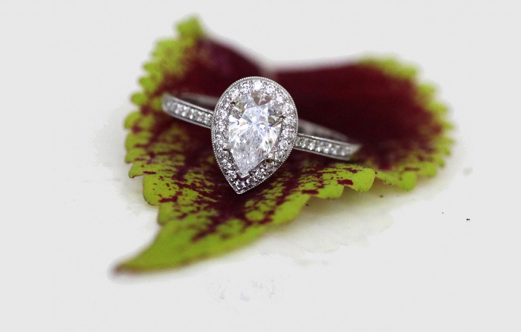 Coast Pear Intro engagement ring