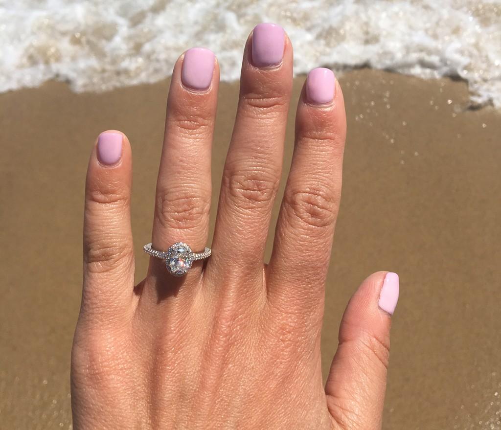 beach engagement ring