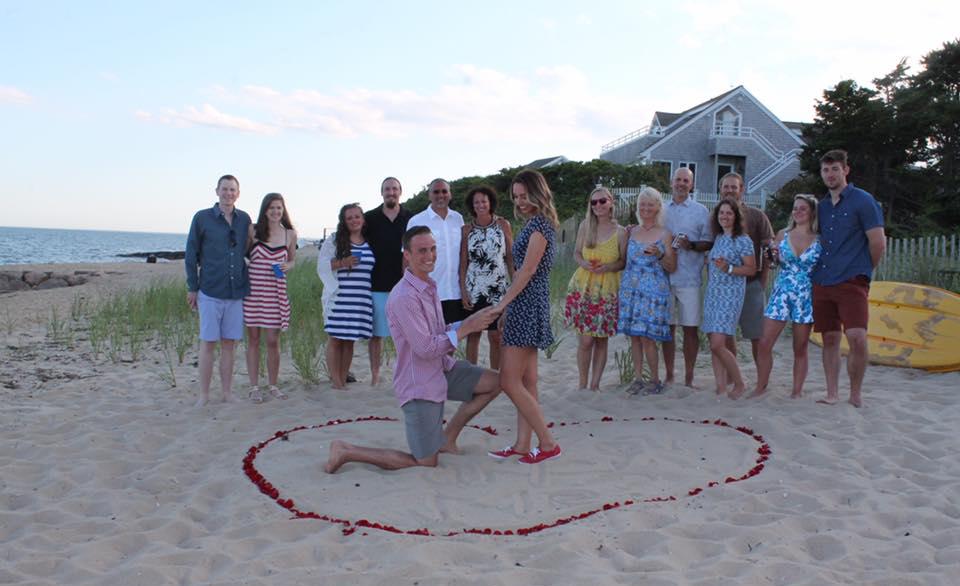 beach proposal new england heart