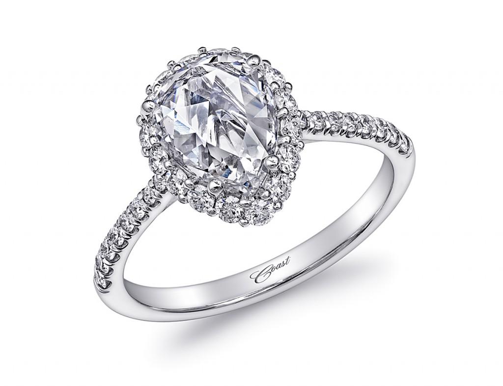 coast diamond pear engagement ring diamond