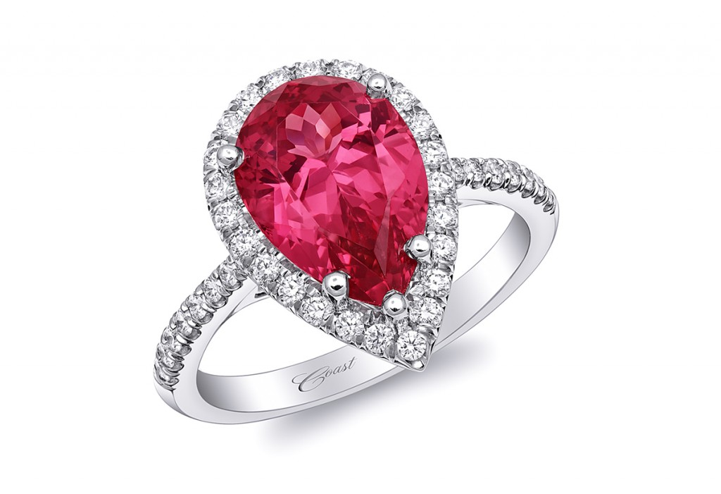 coast diamond pear shaped red spinnel