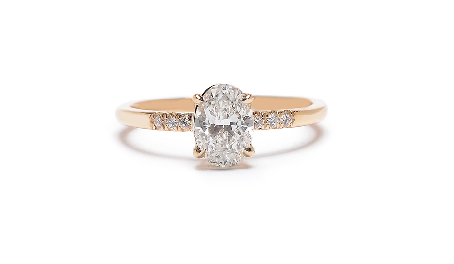 maiden engagement ring gotham collection oval