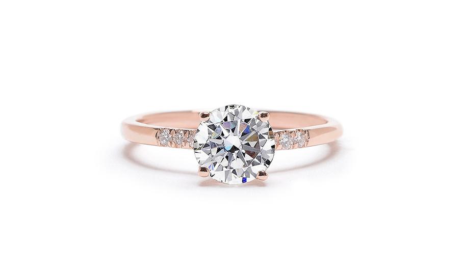 maiden engagement ring gotham collection round