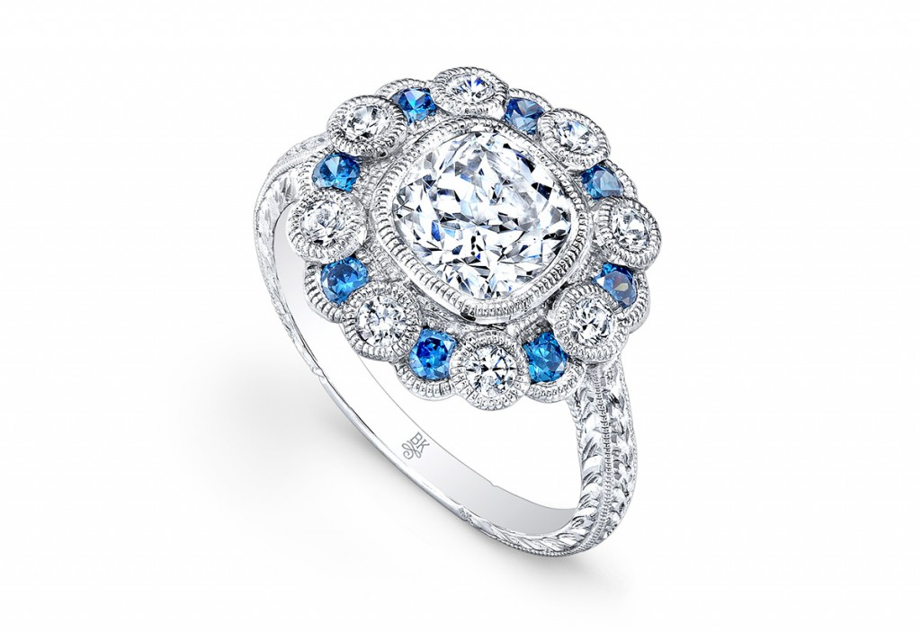 Georgian engagement ring beverly k