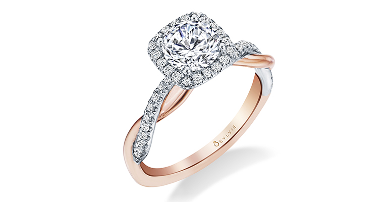 criss-cross engagement ring sylvie collection