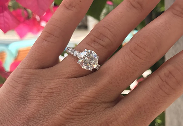 george beach proposal engagement ring