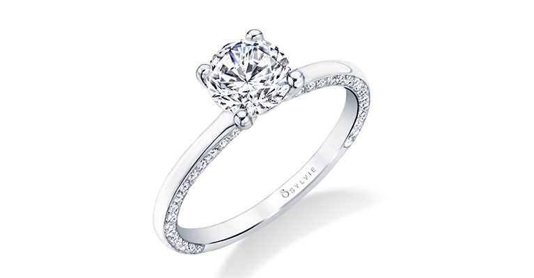 solitaire engagement ring sylvie collection