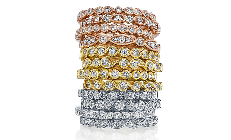 stackables engagement ring sylvie collection