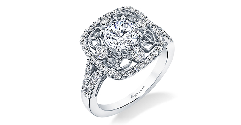 vintage engagement ring sylvie collection