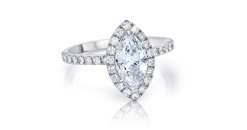 Jeffrey Daniels R6541P Marquise engagement ring