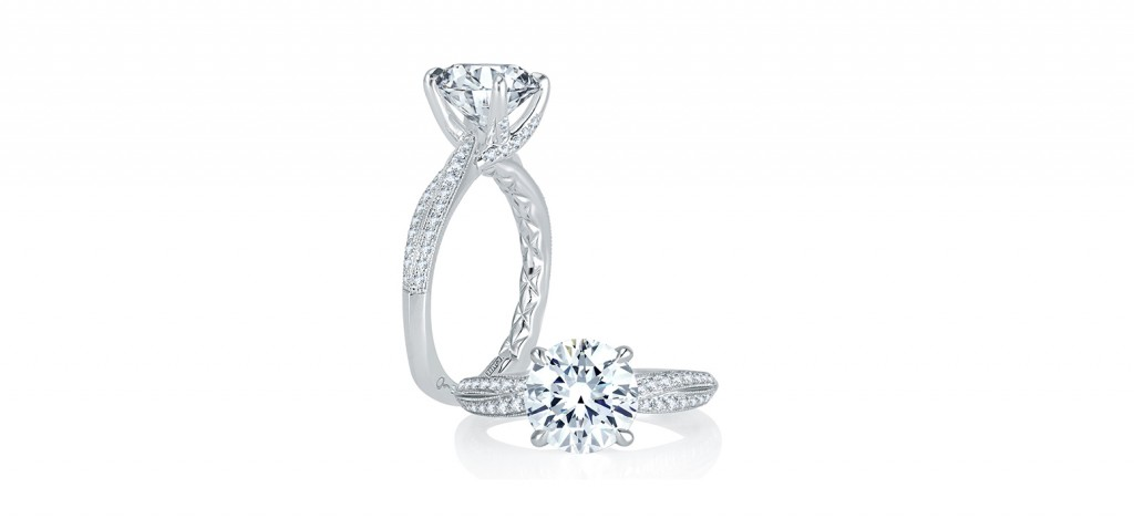 MES740Q a jaffe engagement rings