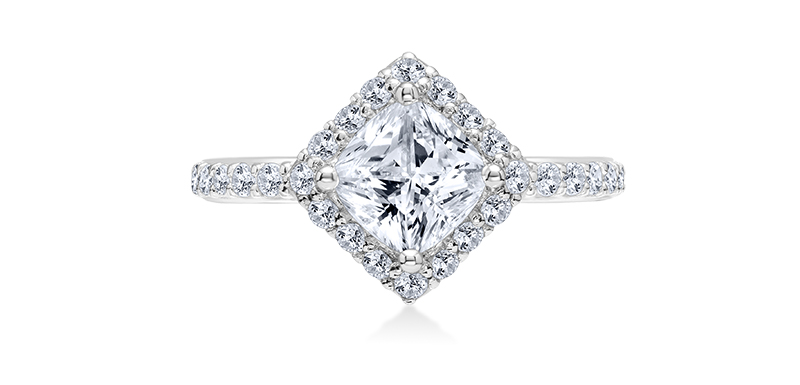 Princess Karl LAgarfeld engagement ring