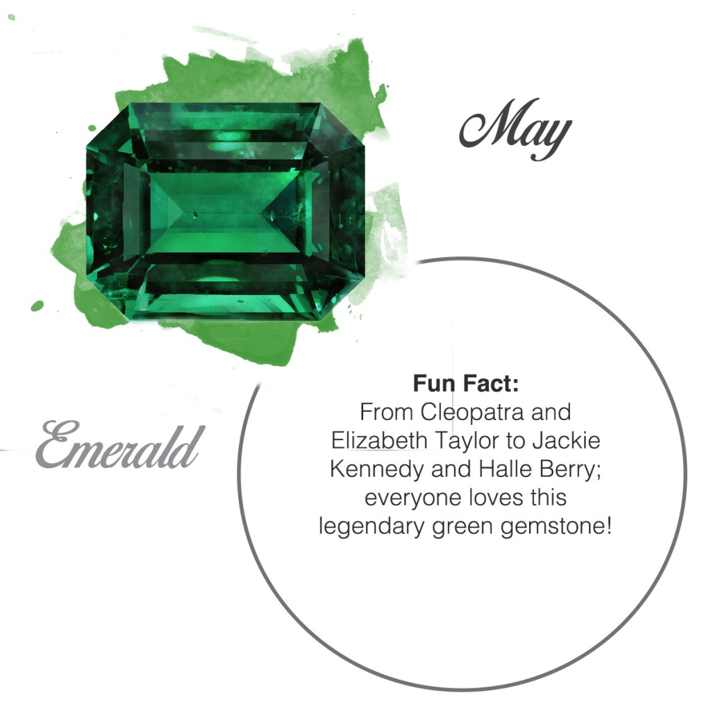 emerald birthstone square engagement ring
