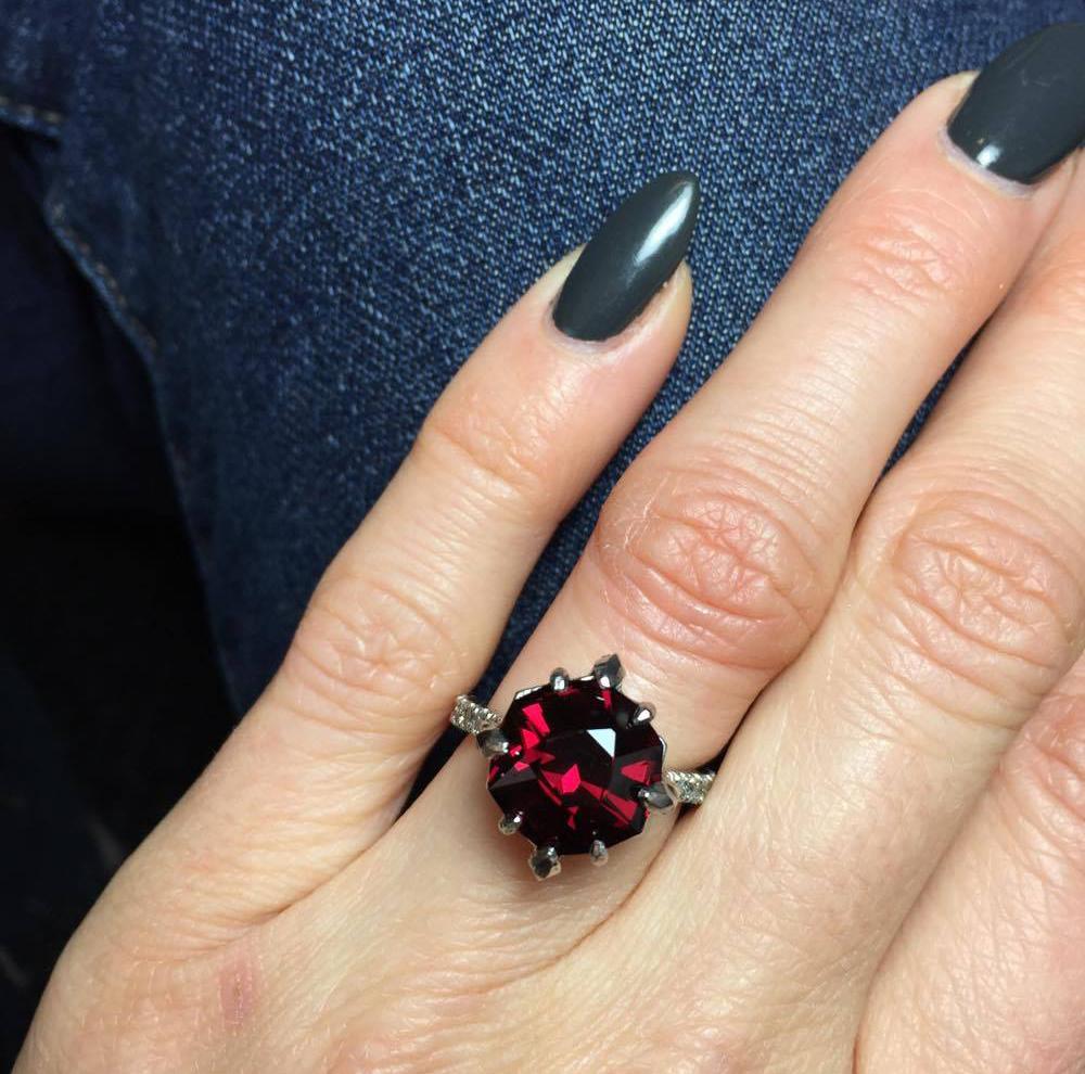 garnet engagement ring january