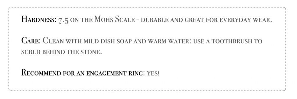 gemstone hardness aquamarine