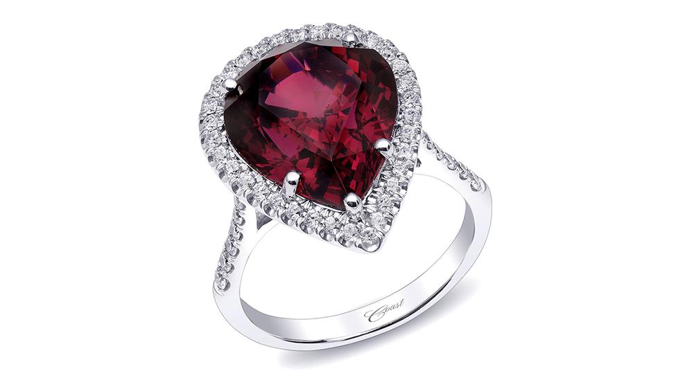 january garnet engagement ring