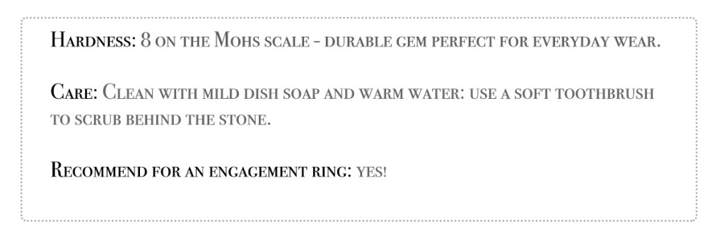 spinel engagement ring hardness