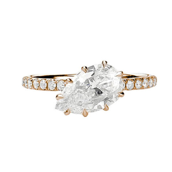 20 jane trau pear engagement ring