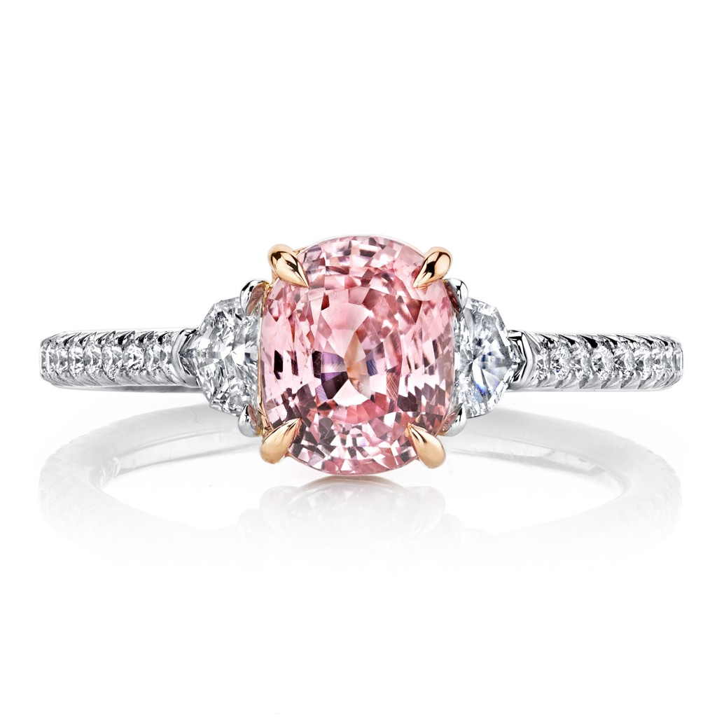 a stone colored rings featuring red diamond pink engagement alternative gemstone the wedding ditch