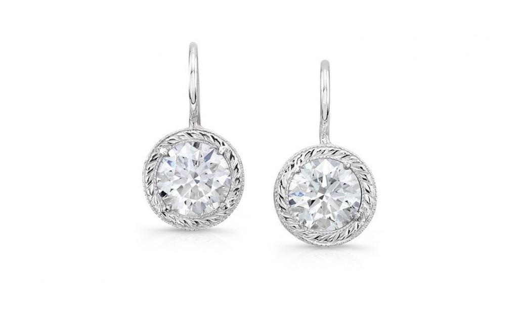 bezel earrings rahaminov