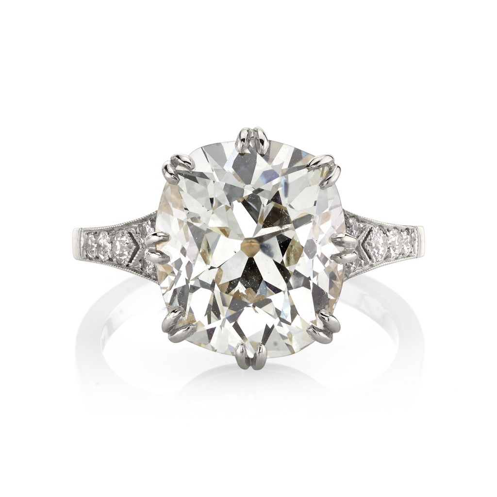 Single Stone Platinum Engagement Rings