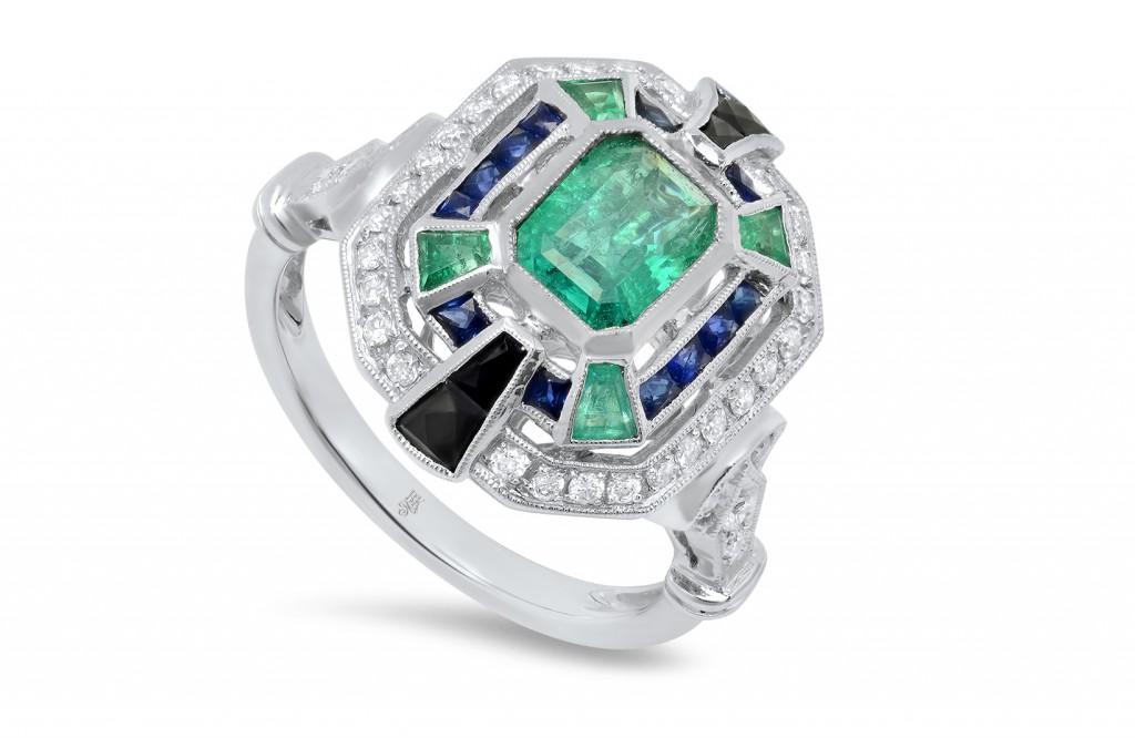 R11817 onyx engagement ring