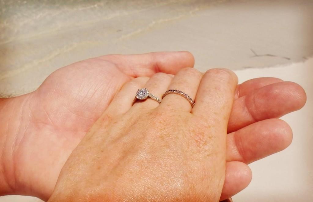 engagement ring beach